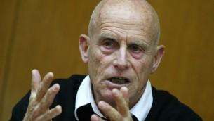 Ami Ayalon, ancien commandant de la Marine israélienne et chef du Shin Bet, en 2008 (Crédit : Olivier Fitoussi/Flash90)