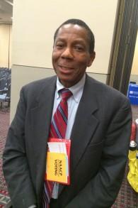 Alex Bethea, un conseiller municipal de la ville de Trenton, NJ, qui a participé à la convention de la NAACP, a fréquenté une école Rosenwald en Caroline du Nord Crédit : (Lisa Hostein / JTA)