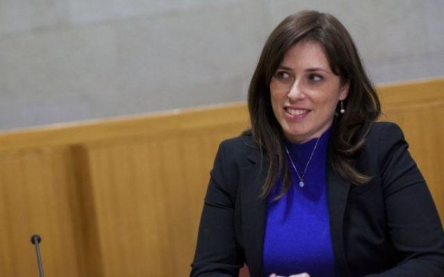 Tzipi Hotovely, vice-ministre des Affaires étrangères. (Crédit : Yonatan Sindel/Flash90)