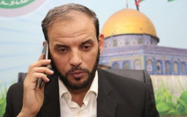 Husam Badran, porte-parole du Hamas. (Crédit : Facebook)