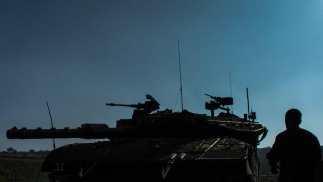 L'armée israélienne sur le plateau du Golan.Illustration. (Crédit : Basal Awidat/Flash90)