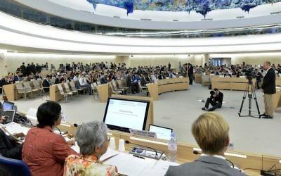 Le Conseil des droits de l'homme à Genève (Crédit : ONU / Jean-Marc Ferré)