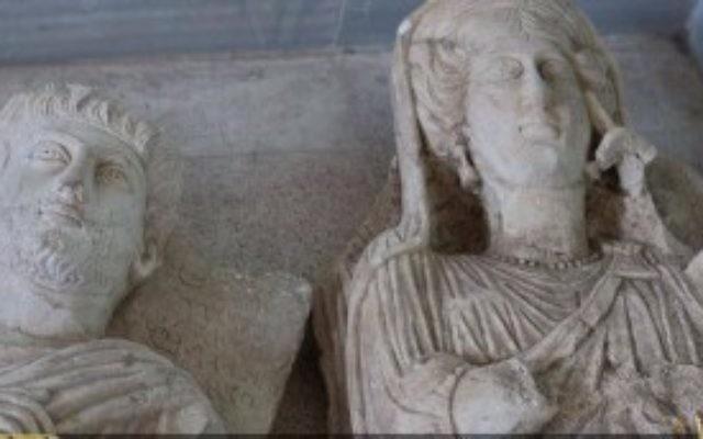 Image publiée par l'Etat islamique de statues désignées pour être dégradaées, 2 juille 2015 (Capture d'écran)