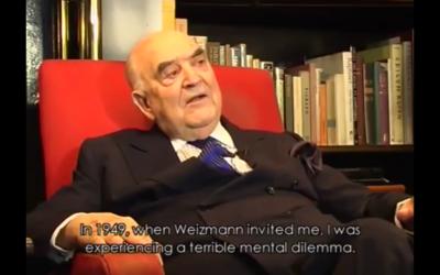 Capture d'écran YouTube : Portrait of Lord Weidenfeld