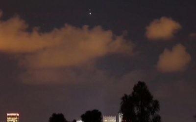 Une vue de l' « Etoile de Bethlehem»  deTel Aviv en juin 2015 (Crédit : Capture d'écran Deuxième chaîne)