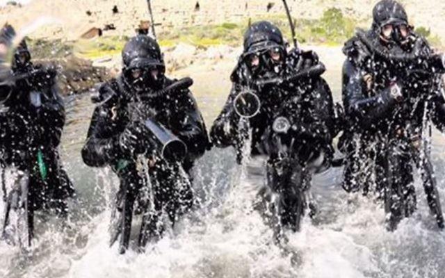 Des commandos de la marine israélienne de l'unité Shayetet 13. (Crédit : Capture d'écran YouTube)
