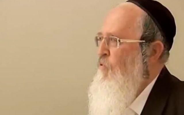Le rabbin Yaakov Deutsch, un rabbin renommé de la ville d'Afula dans le nord d'Israël, a été condamné à 9 ans de prison pour avoir commis des infractions sexuelles contre quatre mineurs (Capture d'écran: Deuxième chaîne)