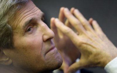 Le secrétaire d'Etat américain John Kerry à Singapour, le 4 août 2015 (Crédit : AFP / POOL / BRENDAN SMIALOWSKI)