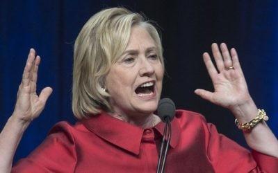 La candidate démocrate à la présidentielle, Hillary Clinton, lors d'un événement du parti en Virginie, le 26 juin 2015 (Crédit : Paul J. Richards / AFP)
