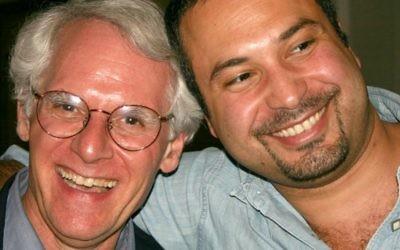 Pour Ahmed Ahmed et Rabbi Bob Alper, la paix n'est pas un sujet risible. (Théâtre anglais de Haïfa)