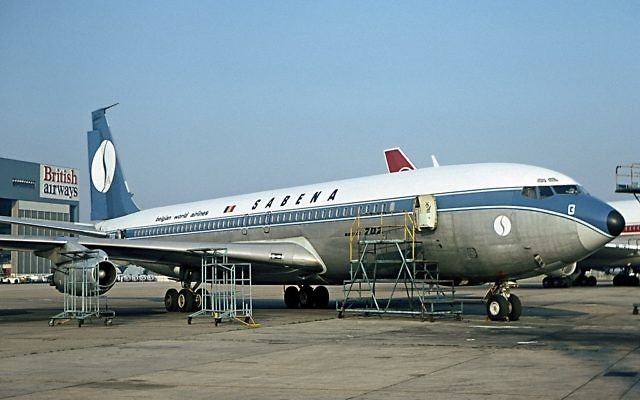 L'avion de la Sabena qui avait été détourné en 1972 (Crédit : Steve Fitzgerald / Wikimedia Commons)