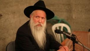 Rabbi Yitzchak Ginsburgh (Crédit : Kobi Gideon / FLASH90)