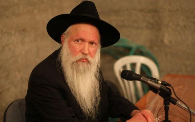 Le rabbin Yitzchak Ginsburgh (Crédit : Kobi Gideon / FLASH90)