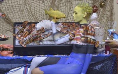 L'oeuvre d'Avi Ram dans le défi de camouflage de Skin Wars. (Autorisation de Game Show Network)