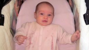 Chaya Zissel Braun, le bébé de 3 mois qui a été tuée dans une attaque terroriste à Jérusalem le 22 ctobre 2014 (Crédit : Capture d'écran Deuxième chaîne)