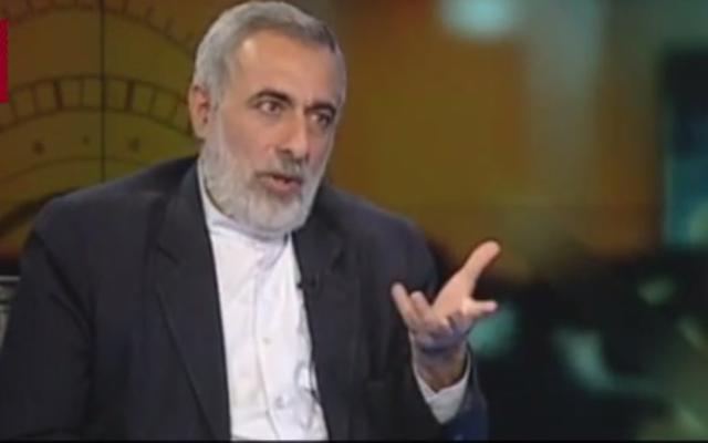 Hossein Sheikholeslam (Crédit : Capture d'écran Youtube)