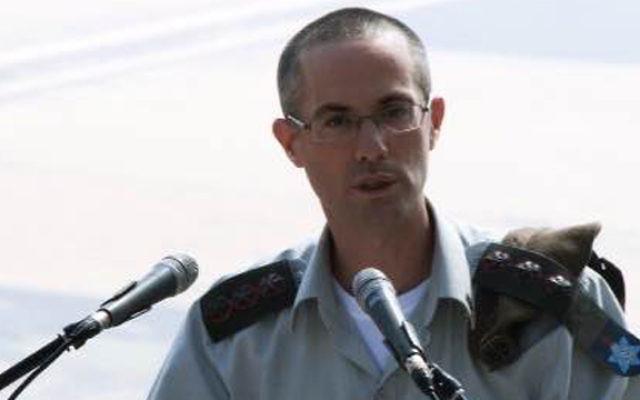 Le colonel Sharon Afek, procureur militaire général. (Crédit : unité des porte-paroles de l'armée israélienne)