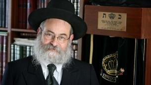 Le rabbin Binyomin Jacobs (Crédit : Meshulam/Wikipedia)