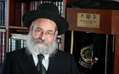 Binyomin Jacobs, grand rabbin des Pays-Bas (Crédit : Meshulam/Wikipedia)
