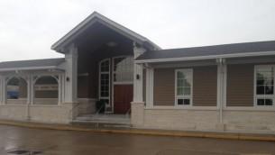 L'extérieur de la Congrégation Beth Israël reconstruite à Metairie (Josh Tapper)
