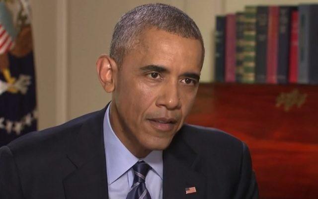 Le président américain Barack Obama parle de l'accord nucléaire iranien sur CNN, le 7 août 2015. (Crédit : capture d'écran CNN)