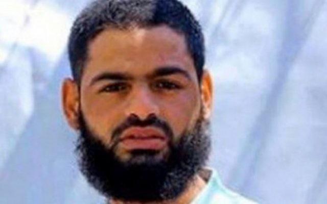 Le prisonnier palestinien Mohammed Allaan, membre du Jihad islamique. (Crédit : AFP)
