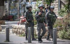 Gardes-frontières israéliens. Illustration. (Hadas Parush/Flash90)