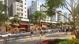 Une illustration de boulevard principal de Harish tel qu'il pourrait ressembler dans l'avenir (Autorisation Hanan Mor)