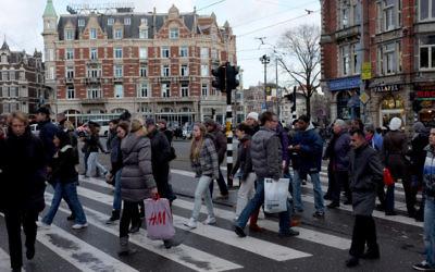 Photo d'Amsterdam, en Hollande le 19 décembre 2011 (Crédit : Nati Shohat / Flash90)
