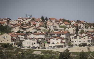 Vue de l'implantation de Givat Zeev, près de Jérusalem (Crédit photo: Hadas Parush / Flash90)