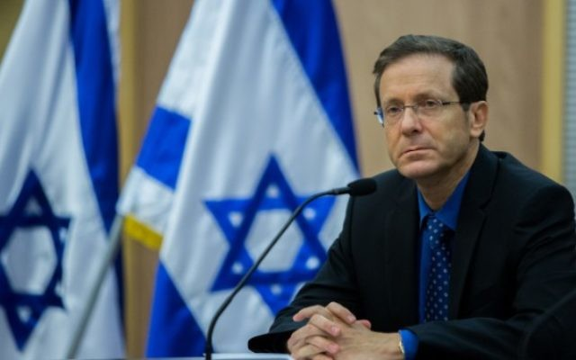 Le leader de l'Union sioniste Isaac Herzog,  le 14 juillet 2015 (Crédit photo: Yonatan Sindel / Flash90)