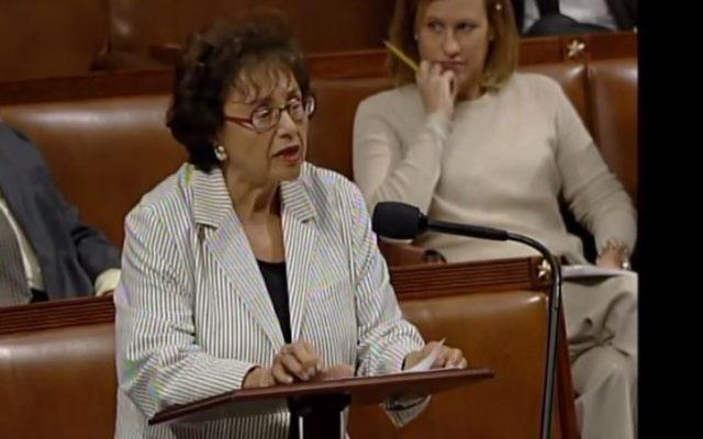 Nita Lowey (NY), principale démocrate de la Chambre des représentants américaine. (Crédit : capture d'écran YouTube/nitalowey)