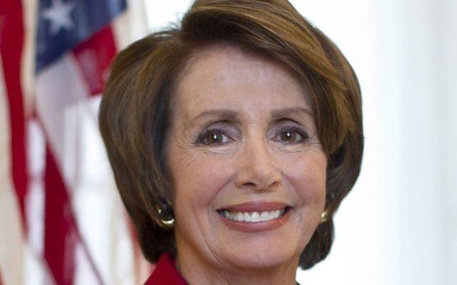 Nancy Pelosi, la chef de file de la minorité démocrate à la Chambre des Représentants (Crédit : sa page Facebook)