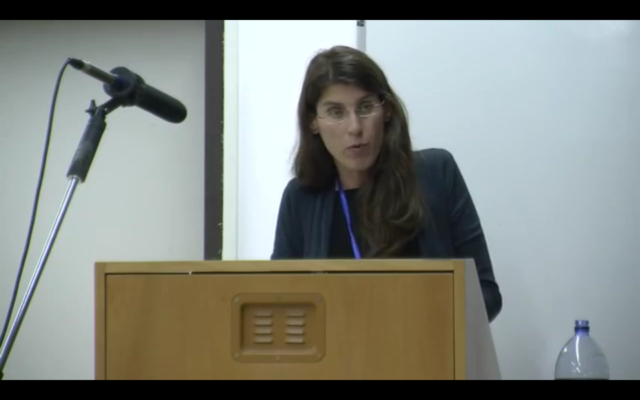 Capture d'écran YouTube - Docteur Sharon Geva - The Future of Holocaust testimonies III - Testimonies under Scrutiny