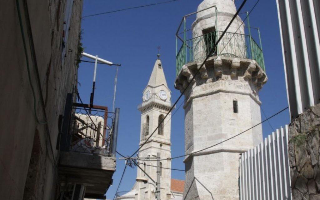 L'église et le monastère à Ramle (Crédit : Shmuel Bar-Am)