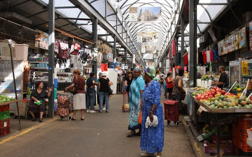 Le marché de Ramle (Crédit : Shmuel Bar-Am)