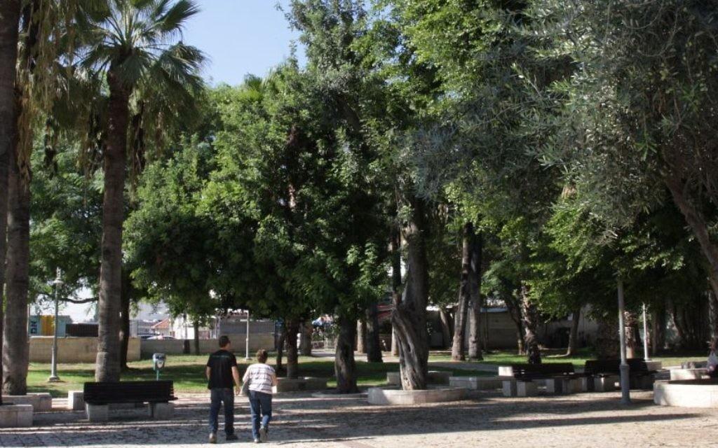 Parc du président au Musée Ramle (Crédit : Shmuel Bar-Am)