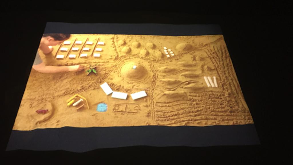 Le projet final de Yocheved Frimer, 'Sand of Time' qui lui a valu un prix d'excellence (Crédit : Autorisation)