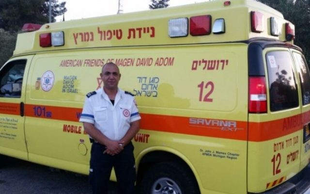 L'ambulancier arabo-israélien du Magen David Adom Ziad Dawiyat (Photo: Autorisation / MDA)