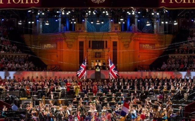 Une performance lors de la dernière nuit des Proms au Royal Albert Hall à l'ouest de Londres, le 12 septembre, 2015. (Crédit : AFP / JUSTIN TALLIS)