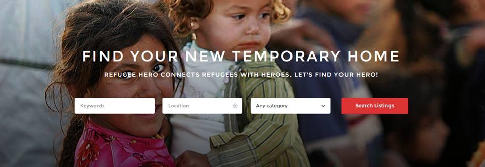 Page d'accueil du site Refugee Hero (Crédit Facebook/Refugee Hero)
