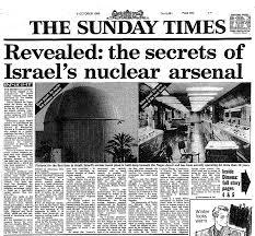 Le Sunday Times de 1986 avec des révélations de Vanunu