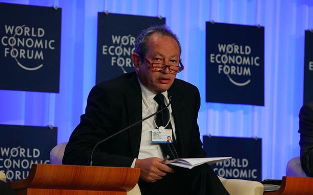 Naguib Sawiris à Davos en 2009 (Crédit : CC BY SA 2.0)