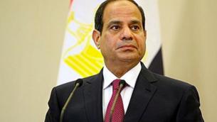 Le président égyptien Abdel Fattah al-Sissi est au pouvoir depuis 2013, après avoir destitué Mohammed Morsi, lié aux Frères musulmans. (Crédit : CC BY SA 3.0)