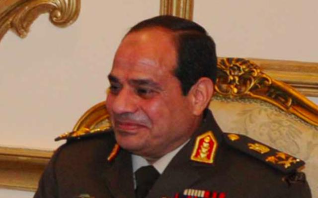 Le président égyptien Abdel Fattah al-Sissi (Crédit : domaine public)