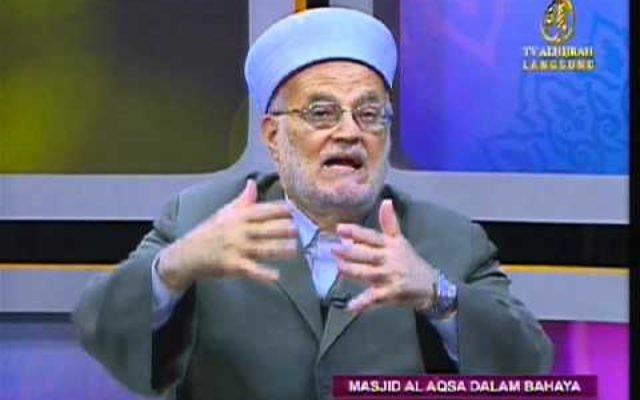 L'ancien Mufti de Jérusalem, Sheikh Ekrima Sabri (Capture d'écran YouTube)