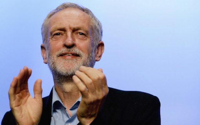 Le dirigeant du Parti travailliste, Jeremy Corbyn, lors de la Conférence TUC au Centre de Brighton, le 15 septembre 2015, en Angleterre. (Crédit : Mary Turner / Getty Images / via JTA)