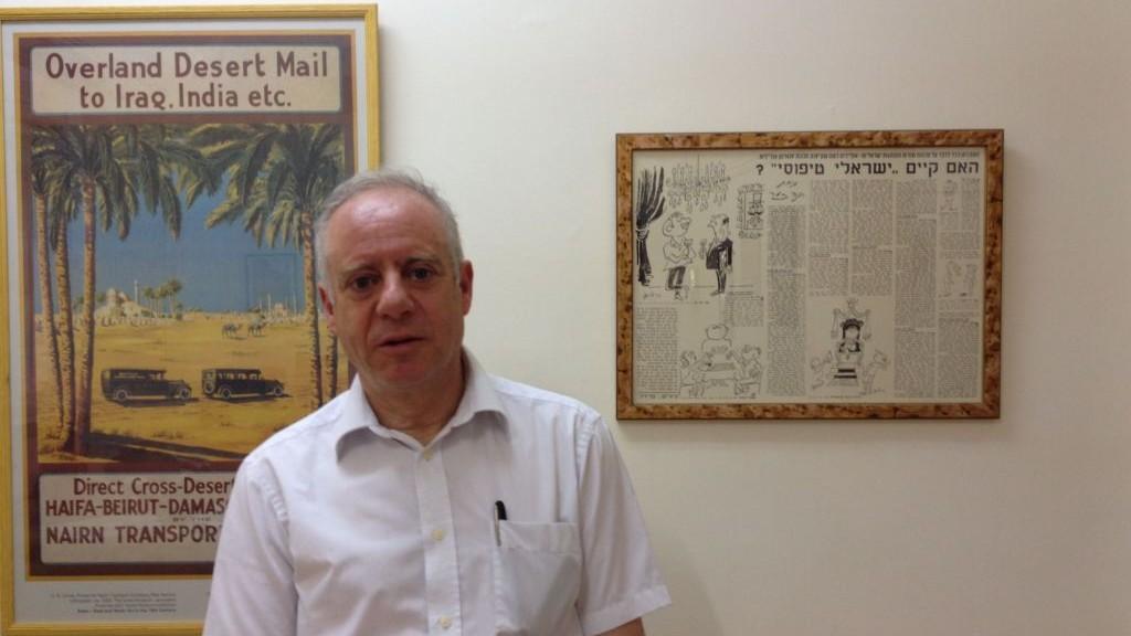 Jonathan Arkush, le président du Conseil des représentants des juifs britanniques, dans les bureaux du Times of Israël à Jérusalem, en juin 2015. (Crédit : Amanda Borschel-Dan/Times of Israel)