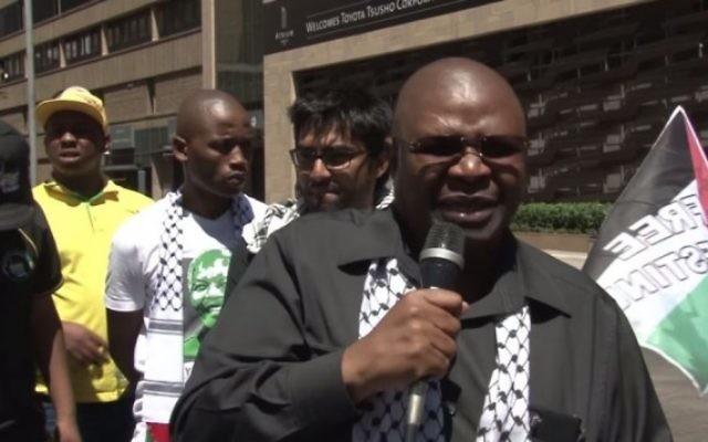 Obed Bapela  un sous-ministre dans le bureau du président sud-africain Jacob Zuma, (Capture d'écran YouTube)