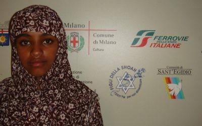 L'une des 2 500 migrants et réfugiés qui ont trouvé refuge au Mémorial de l'Holocauste de Milano au cours de l'été. (Crédit : Adil Rabhi)